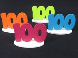 Marque place 100ans coloré x4