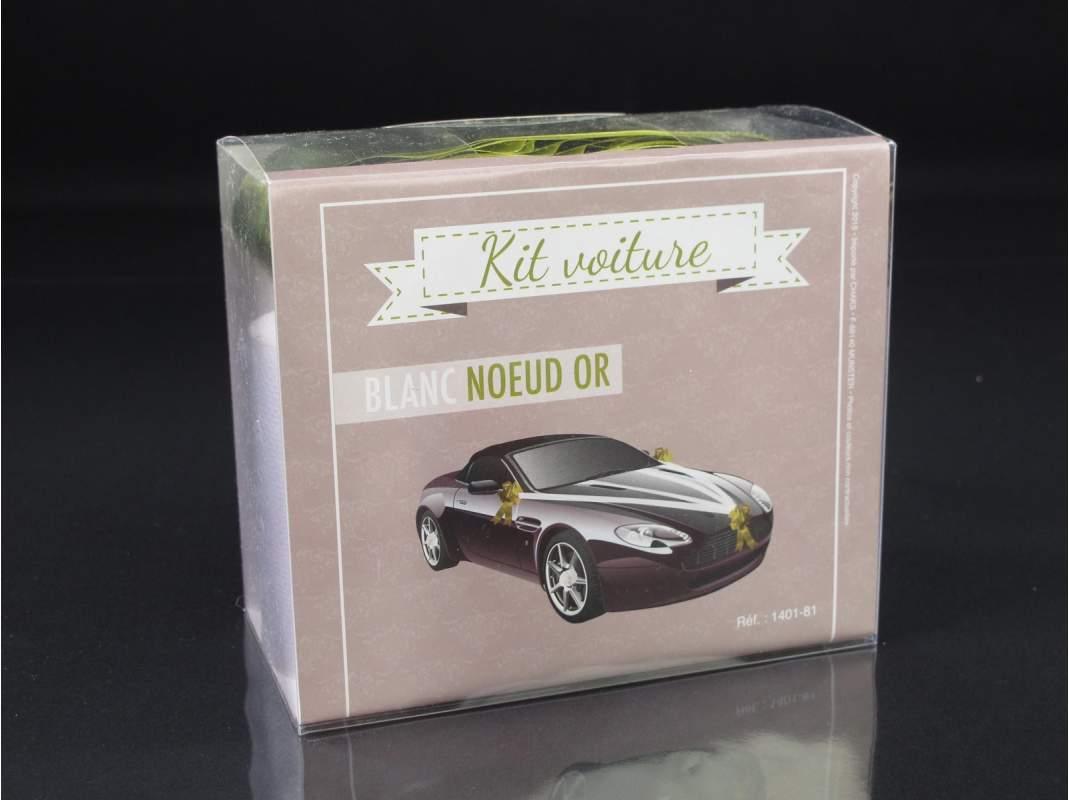 kit d coration voiture mariage or. Black Bedroom Furniture Sets. Home Design Ideas
