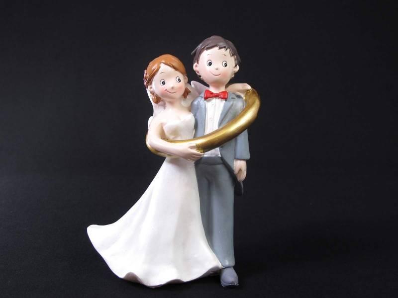 Figurine pour mariage - Couple Alliance Géante
