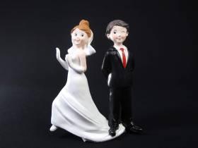 Figurine pour mariage - Couple Attrape Moi