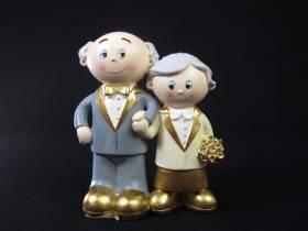 Figurine pour noces d'or de 15cm