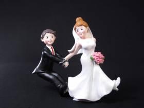 Figurine pour mariage - Couple de Mariés retiens moi