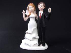Figurine pour mariage - Couple de Mariés Diamant