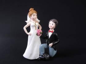 Figurine pour mariage - Couple Marié à genoux