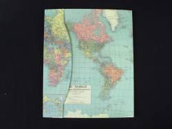 Livre d'or mariage et anniversaire Map Monde - 60 pages