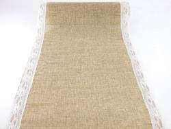 Chemin de table dentelles en jute