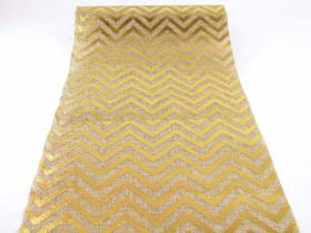 Chemin de table chevrons or en jute