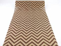 Chemin de table chevrons marron en jute