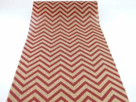 Chemin de table chevrons bordeaux en jute