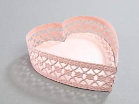 Support métal coeur - Rose pastel