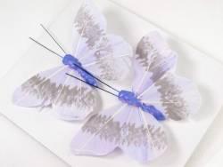 Papillon sur tige Mauve