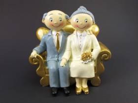 Figurine pour noces d'or de 15x15cm