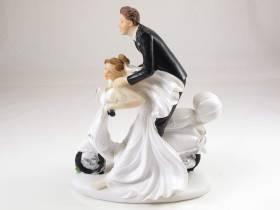 Figurine pour mariage - Couple sur scooter