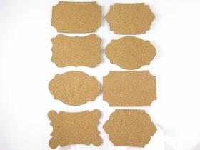 Etiquette adhésive cadre vintage liège