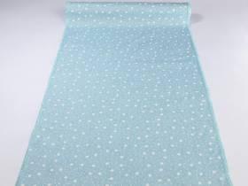 Chemin de table Noël tissu motifs étoiles bleu ciel - 5m