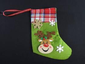 Deco Noël - chaussette à friandise renne rigolo