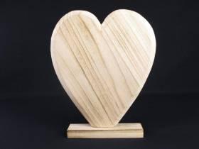 Grand coeur déco bois