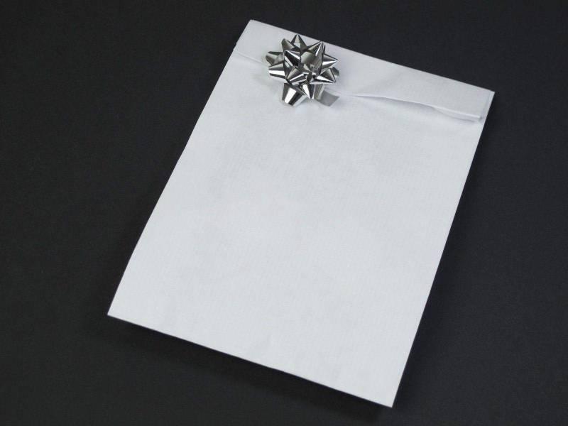 Pochette kraft blanc grand format x250 - Blanc