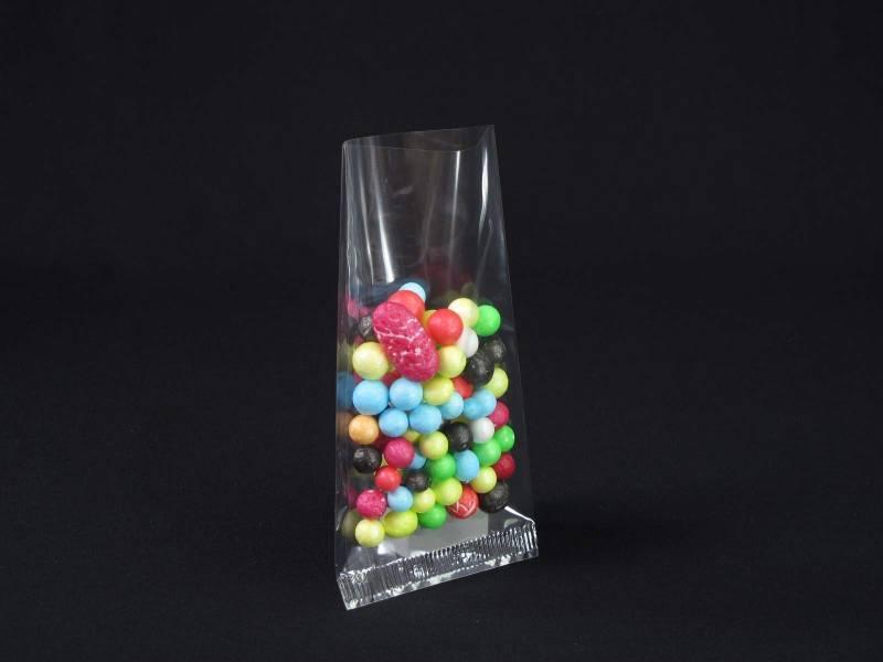 Pochette transparente bonbon et confiserie 5,5x12cm