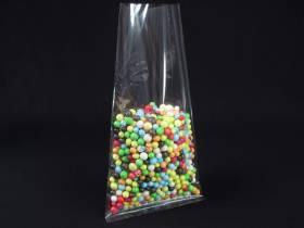 Pochette transparente bonbon et confiserie 12x24cm