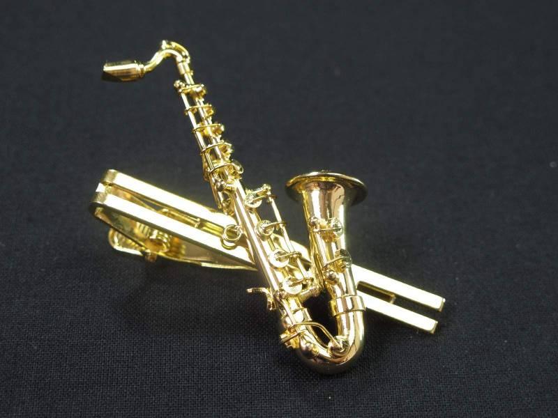 Saxophone épingle 6cm - Or