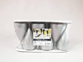Verre à vin en plastique 15cl - Argent