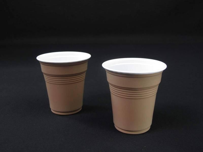 Gobelet café plastique 16cl - Marron