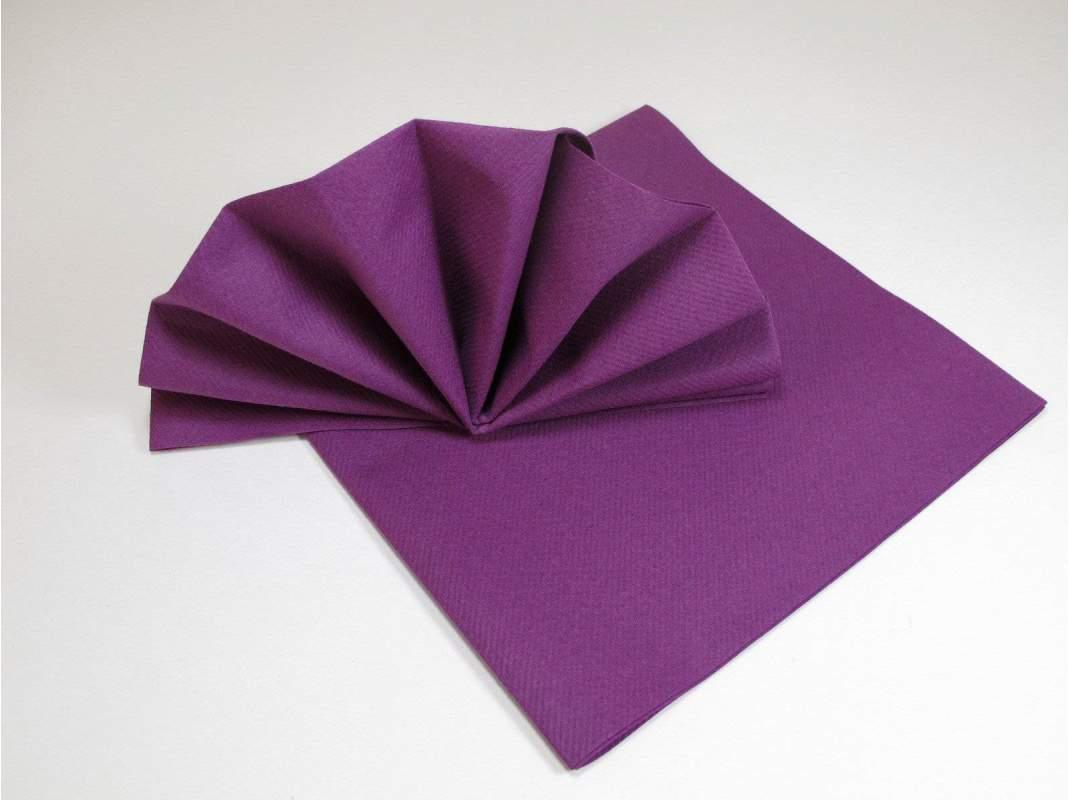 serviette de table papier non tiss e aubergine decofete. Black Bedroom Furniture Sets. Home Design Ideas