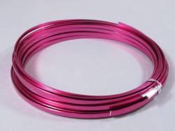 Fil Aluminium décoratif pour bijoux plat 3,5mm - Fuchsia