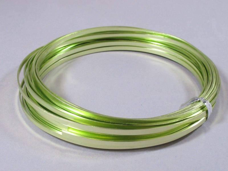 Fil Aluminium décoratif pour bijoux plat 3,5mm - Anis