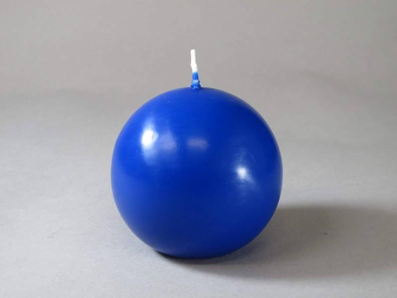 Bougie Boule - Bleu Roi Ø8cm