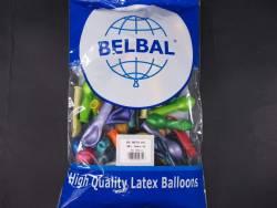 100 ballons métallisés Fête et Mariage Assortis Ø12cm