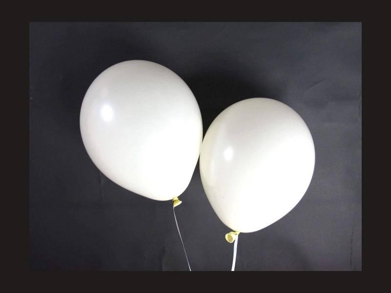 100 ballons Fête et Mariage Vanille Ø12cm