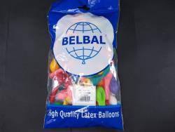 100 ballons Fête et Mariage Assortis Ø12cm