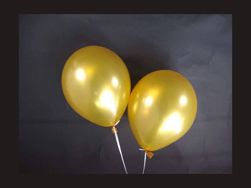 100 ballons métallisés Fête et Mariage Or Ø12cm