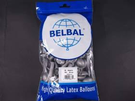 100 ballons métallisés Fête et Mariage Argent Ø12cm