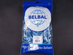 100 ballons métallisés Fête et Mariage Bleu Ciel Ø12cm