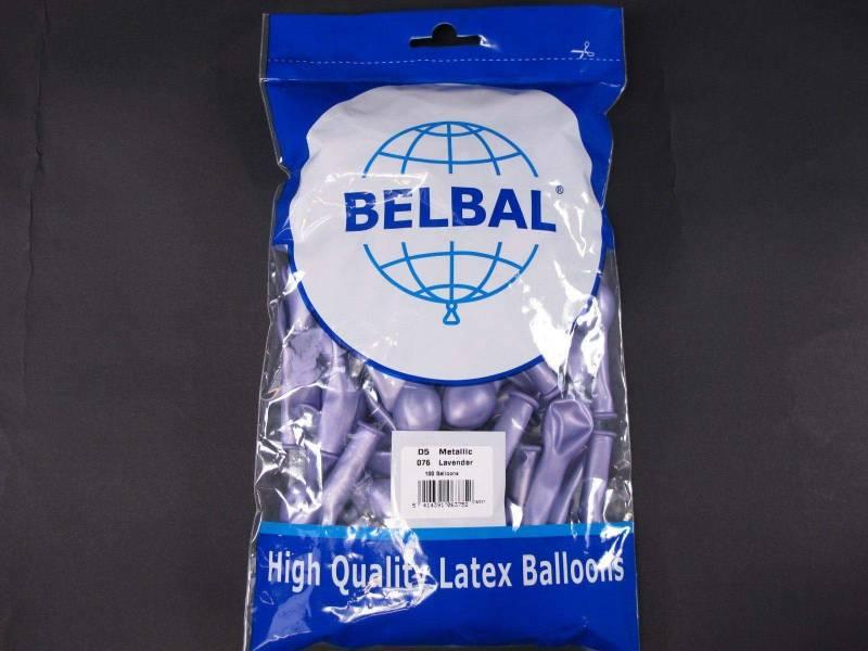 100 ballons métallisés Fête et Mariage Lavande Ø12cm