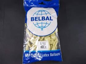 100 ballons métallisés Fête et Mariage Ivoire Ø12cm