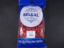 100 ballons métallisés Fête et Mariage Rouge cerise Ø12cm