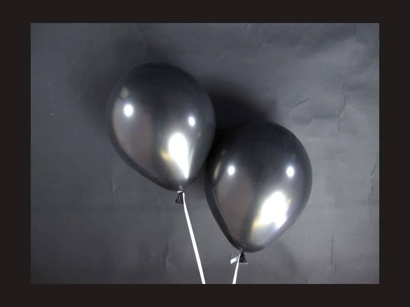 100 ballons métallisés Fête et Mariage Noir Ø12cm