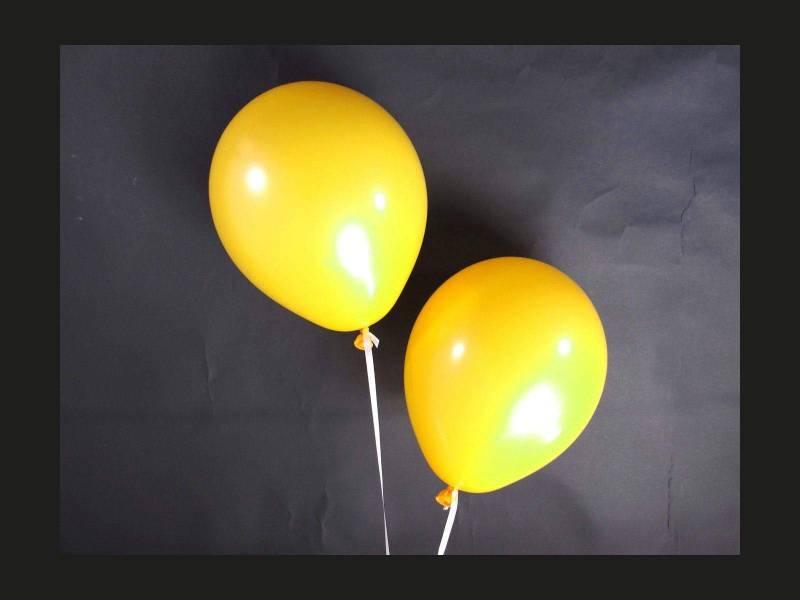 100 ballons Fête et Mariage Jaune passion Ø12cm