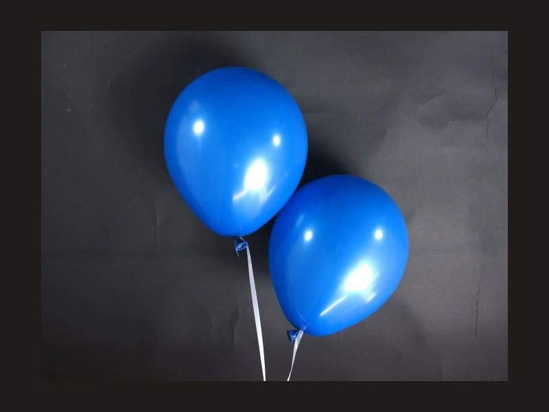 100 ballons Fête et Mariage Bleu Roi Ø12cm