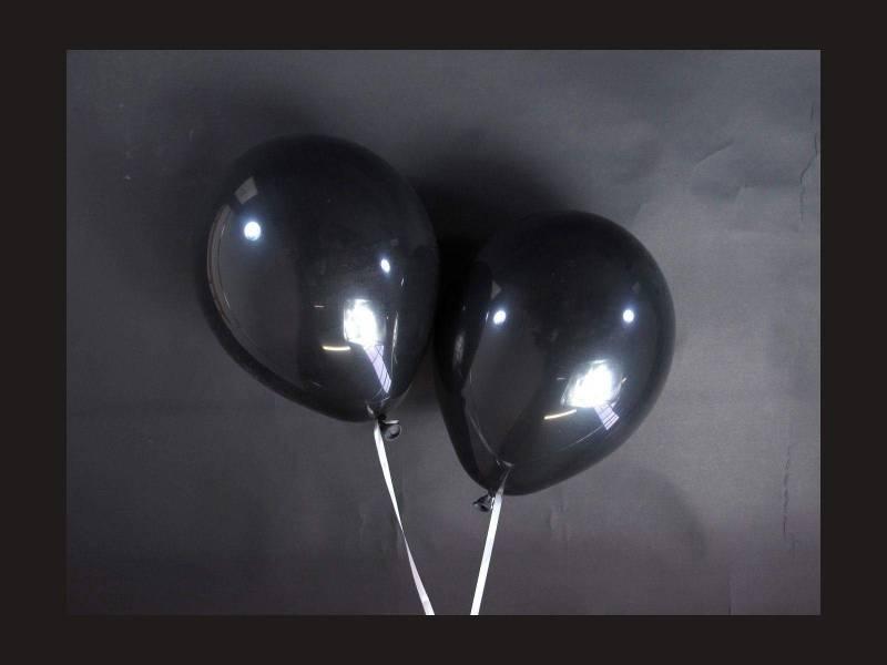 100 ballons Fête et Mariage Noir Ø12cm