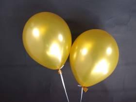 50 ballons métallisés Fête et Mariage Or Ø30cm