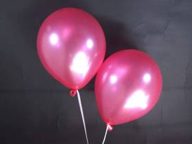 50 ballons métallisés Fête et Mariage Fuchsia Ø30cm