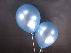 50 ballons métallisés Fête et Mariage Bleu Ciel Ø30cm