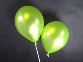 50 ballons métallisés Fête et Mariage Vert Pomme Ø30cm