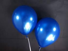 50 ballons métallisés Fête et Mariage Bleu Roi Ø30cm