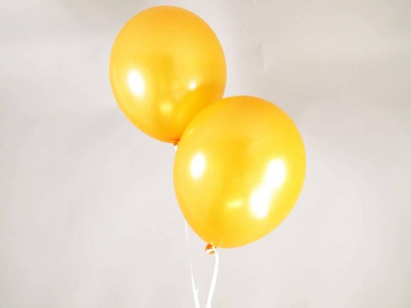 50 ballons métallisés Fête et Mariage Orange Ø30cm